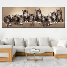 Tablou Canvas Familie de Pisicute Pe Canapea CAT22