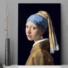 Tablou Canvas Fata cu Cercel de Perla de Johannes Vermeer TRC12