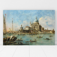 Tablou Canvas Francesco Guardi  Veneția: Punta della Dogana RDV50