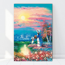 Tablou Canvas Mama si Copilul In Peisaj Fabulos FAB90