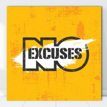 Tablou Canvas Motivational No Excuses MTS17