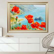 Tablou Canvas+Rama Maci Pe Coasta FAS125