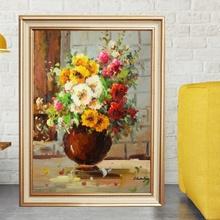 Tablou Canvas+Rama Vaza cu Flori TRD18