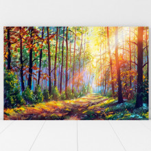 Tablou Canvas Raze de Soare Printre Copaci BNS54