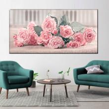 Tablou Canvas Trandafiri Fantezie Roz ROS62