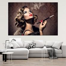 Tablou Glamour Doamna cu Tigareta FBH90B