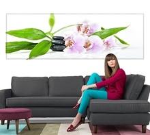 Tablou Panoramic Orhidee cu Pietre Zen st1182