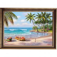 Tablou Peisaj Tropical, Canvas+Rama OPJ4