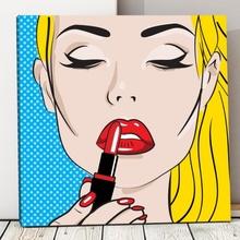 Tablou Red Lips Pop Art pvs5