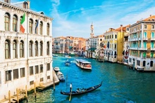 Tablou Venetia Canale Grande vazut de pe podul Rialto 02