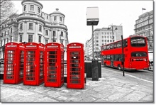 Tablou Cabine de Telefon Rosii in Londra