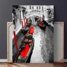 Tablou Gondole Rosii in Venetia IVE26