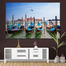 Tablou Canvas Gondole in Venetia IVE30