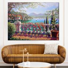 Tablou Canvas Balustrada cu Flori RMDV2