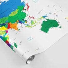 Fototapet Harta Lumii in Culori Vii FWM4