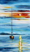 Reproducere Leonid Afremov - Noapte in Caraibe