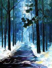 Reproducere Leonid Afremov - Padurea iarna