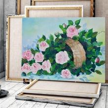 Tablou Canvas Cos cu Trandafiri Roz