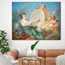 Tablou Canvas Francois Boucher Alegoria Artelor Plastice RFB7