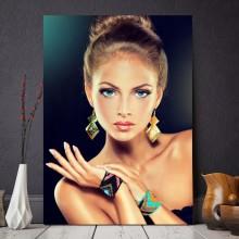 Tablou Femeie Frumoasa cu Bijuterii GLD3