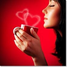 Tablou Femeie Savurand Cafeaua