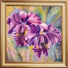 Tablou Floral cu Rama Aurie B006 FT637