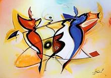 Tablou G.A. - Dansul ingerilor