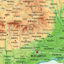 Tablou Harta Fizico Geografica A Romaniei Nvv39