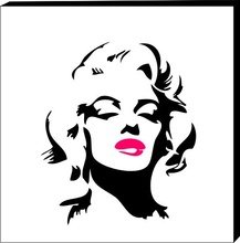 Tablou modern Marilyn Monroe -black&pink