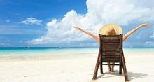 Tablou plaja - relaxare pe sezlong