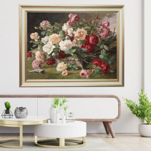Tablou Trandafiri, Canvas+Rama FAS131