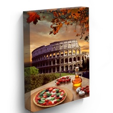 Tablou Vertical Pizza Italiana la Colosseum
