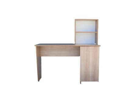 Birou de lucru cu rafturi si dulap, Stejar, Model 6048