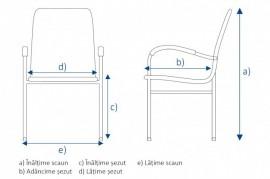 Scaun de conferință/vizitator cadru vopsit model Taurus Lemn