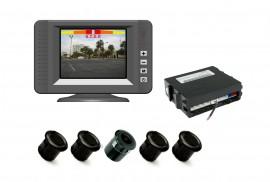 Poze Senzor de parcare cu 4 senzori + Camera+ Monitor, avertizare acustica si vizuala cu Monitor TFT Model 9105