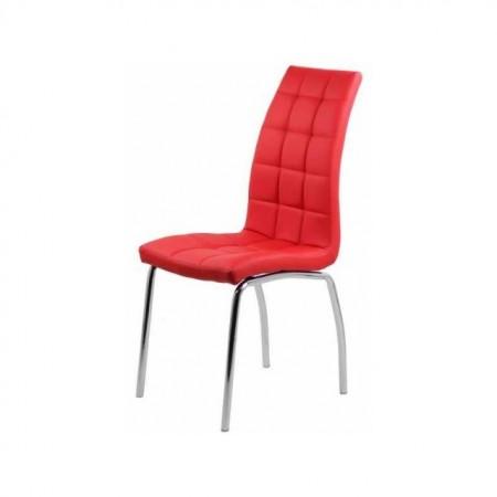 scaun living tapitat rosu