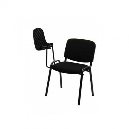 scaun vizitator negru cu masuta