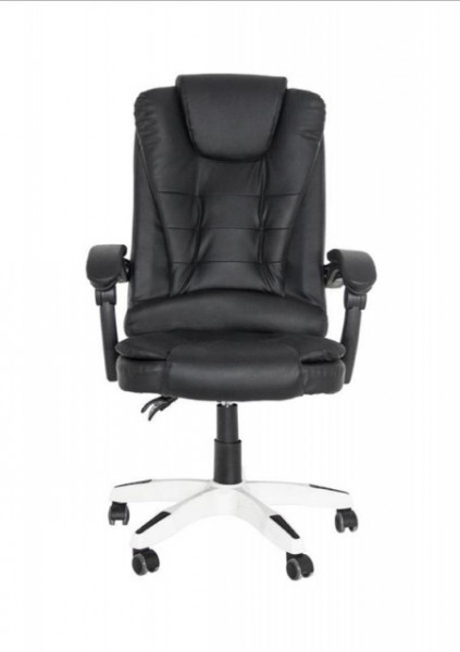 Scaun de birou piele eco Torino negru/cromat