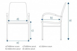 Scaun OVI pentru copii, cadru negru, lemn stratificat