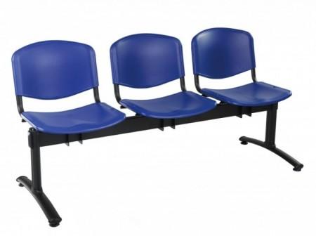Bancute 3 locuri scaune plastic Taurus vizitatori