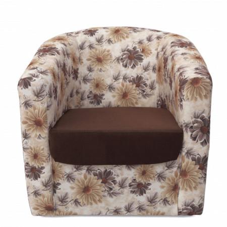 Fotoliu Horeca, tapiterie stofa bicolor, cadru lemn, diverse culori, Tudor