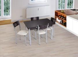 Poze SET Masa Extensibila + 4 scaune cromate wenge Model 3071.03