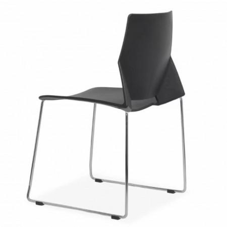 scaun vizitator plastic negru hrc627
