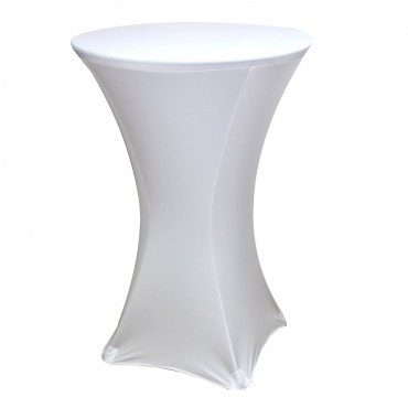 Poze Husa elastica din Lycra pentru masa cocktail, Alba