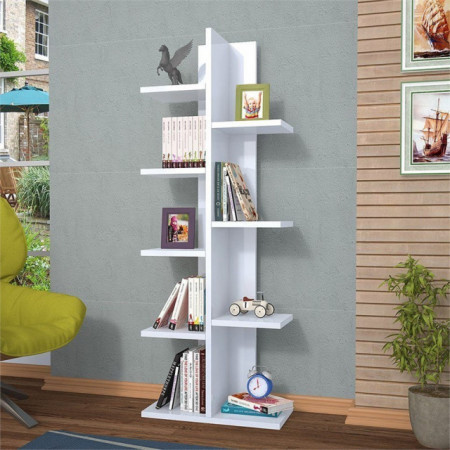 Biblioteca cu rafturi Albe Model: 6036