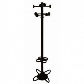Cuier metalic negru, cu suport umbrelă, elemente PP Monte 1N