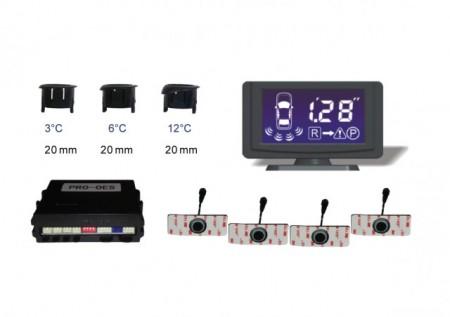 Senzor de parcare cu 4 senzori, avertizare acustica si LCD Model PRO4121