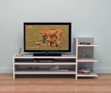 Comoda TV cu rafturi pe o laterala, Cires, model 6031