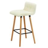 Scaun Bar picioare lemn, Alb/Verde/Rosu, Abs127