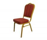 scaun rosu auriu